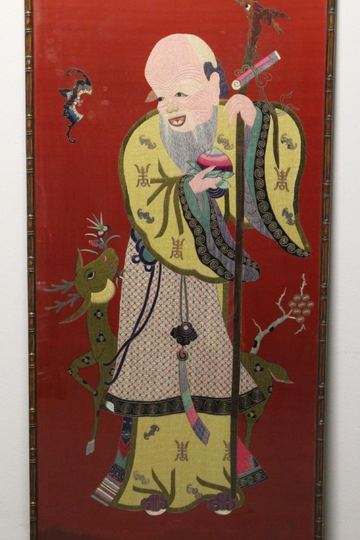 "Large embroidery panel ""god of longevity"" - 2"