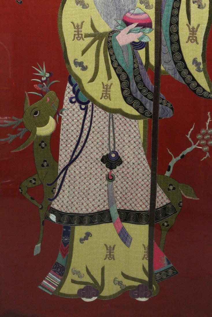 "Large embroidery panel ""god of longevity"" - 3"