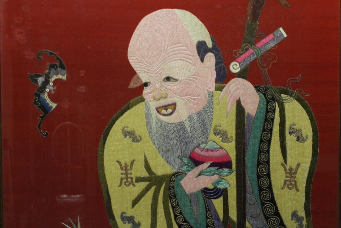 "Large embroidery panel ""god of longevity"" - 5"