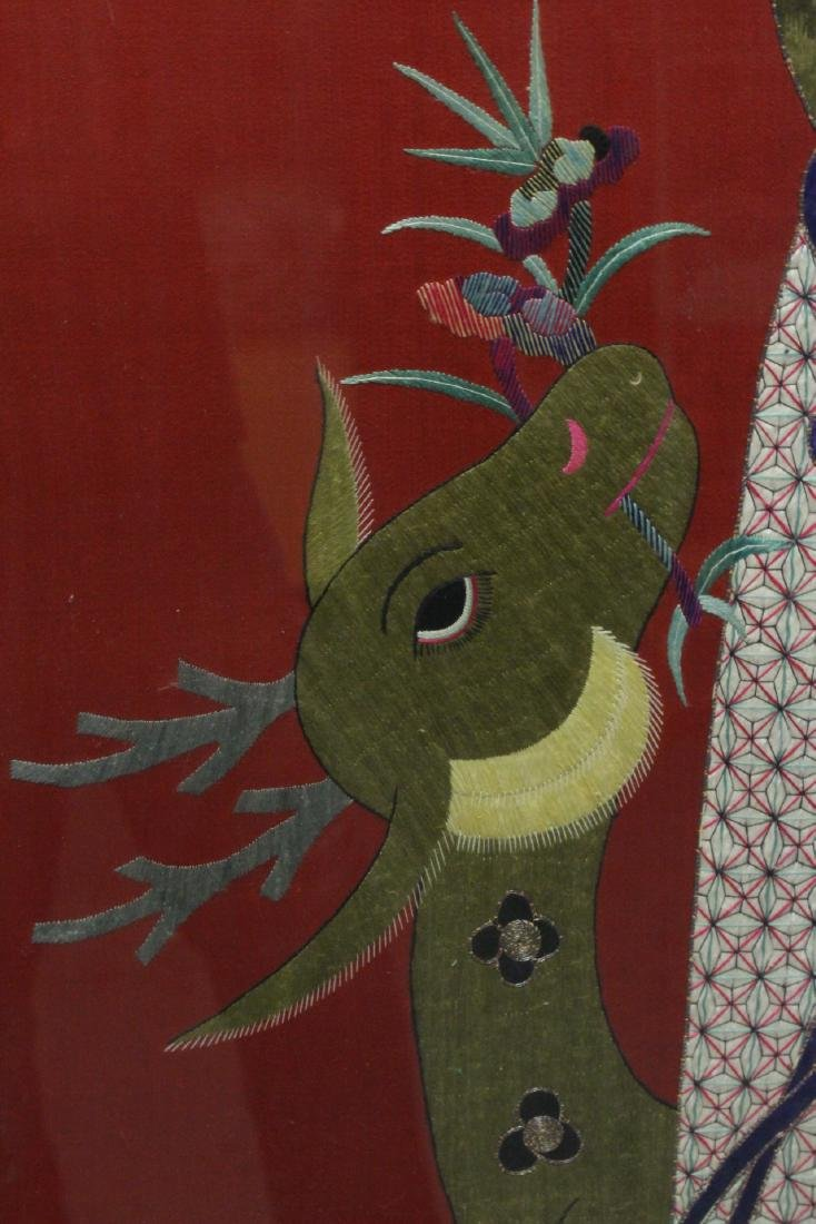 "Large embroidery panel ""god of longevity"" - 7"
