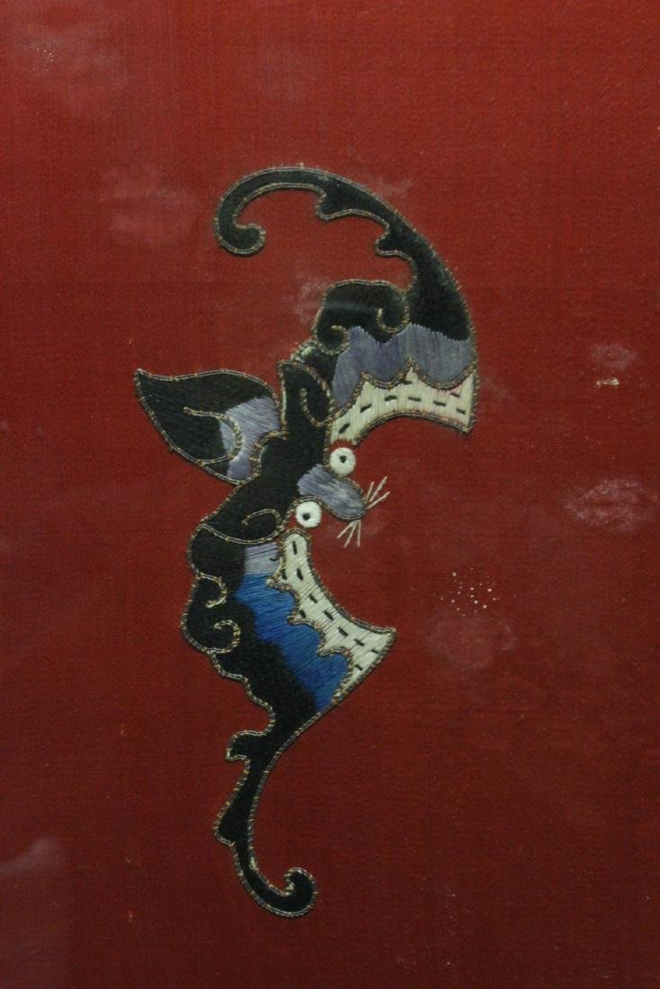 "Large embroidery panel ""god of longevity"" - 8"