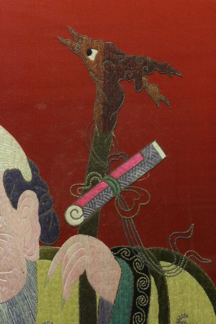 "Large embroidery panel ""god of longevity"" - 9"