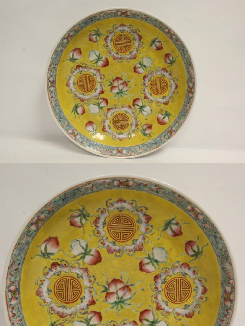 3 Chinese vintage famille rose porcelain plates - 8