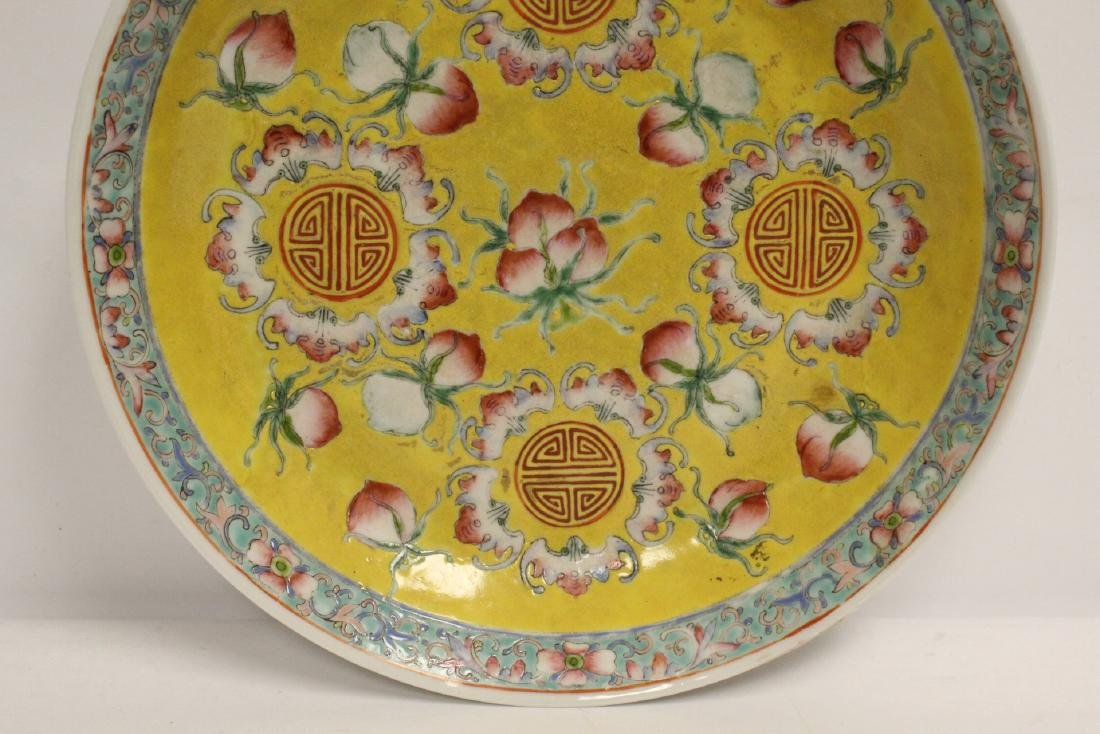 3 Chinese vintage famille rose porcelain plates - 9