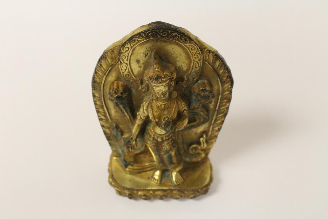 Chinese antique gilt bronze sculpture - 10