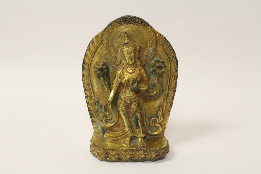 Chinese antique gilt bronze sculpture
