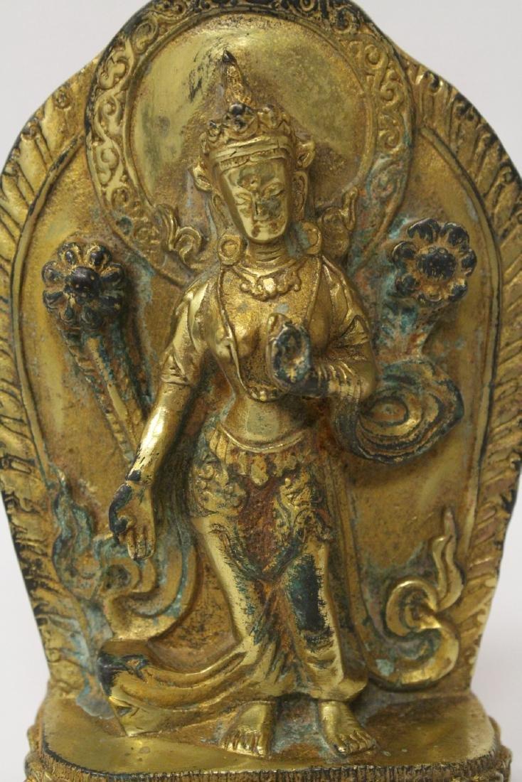 Chinese antique gilt bronze sculpture - 4
