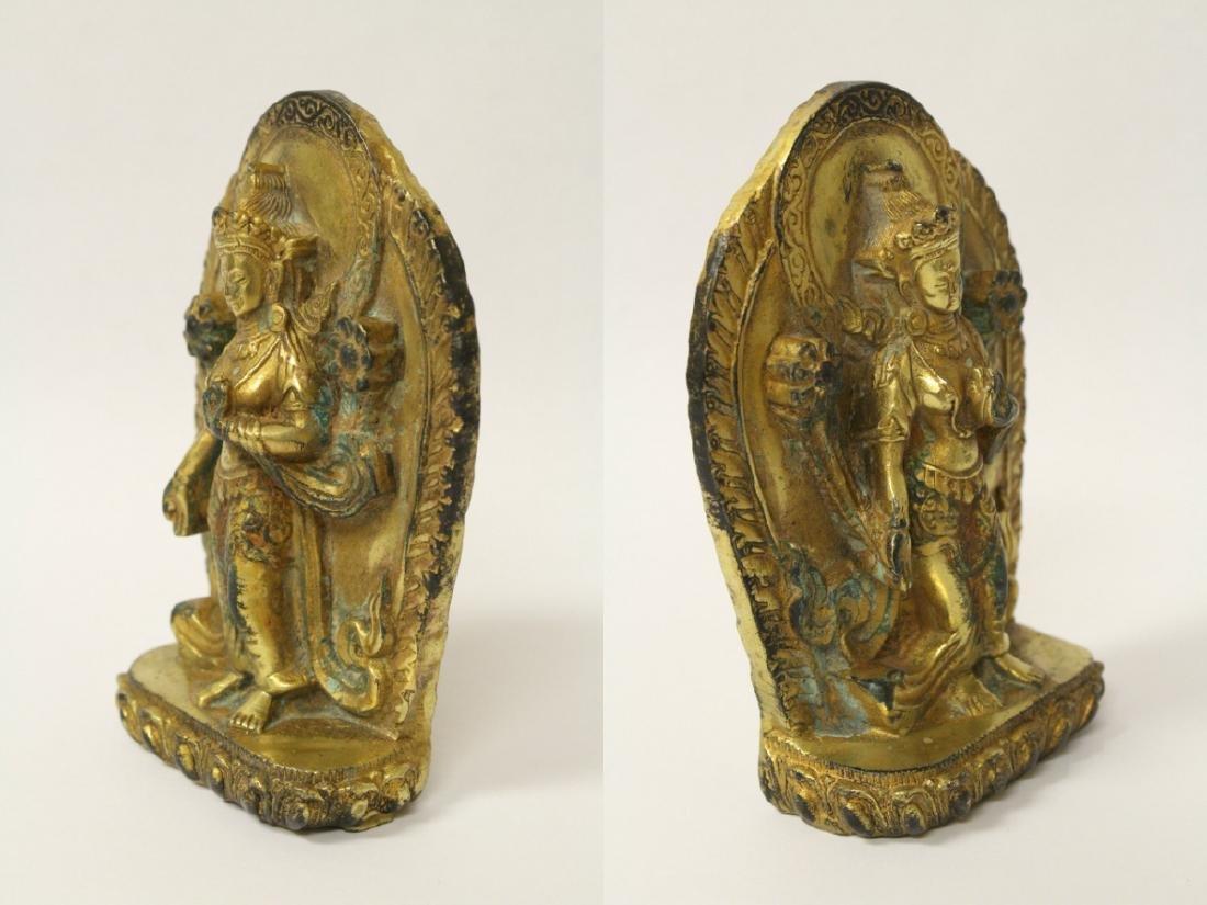 Chinese antique gilt bronze sculpture - 6