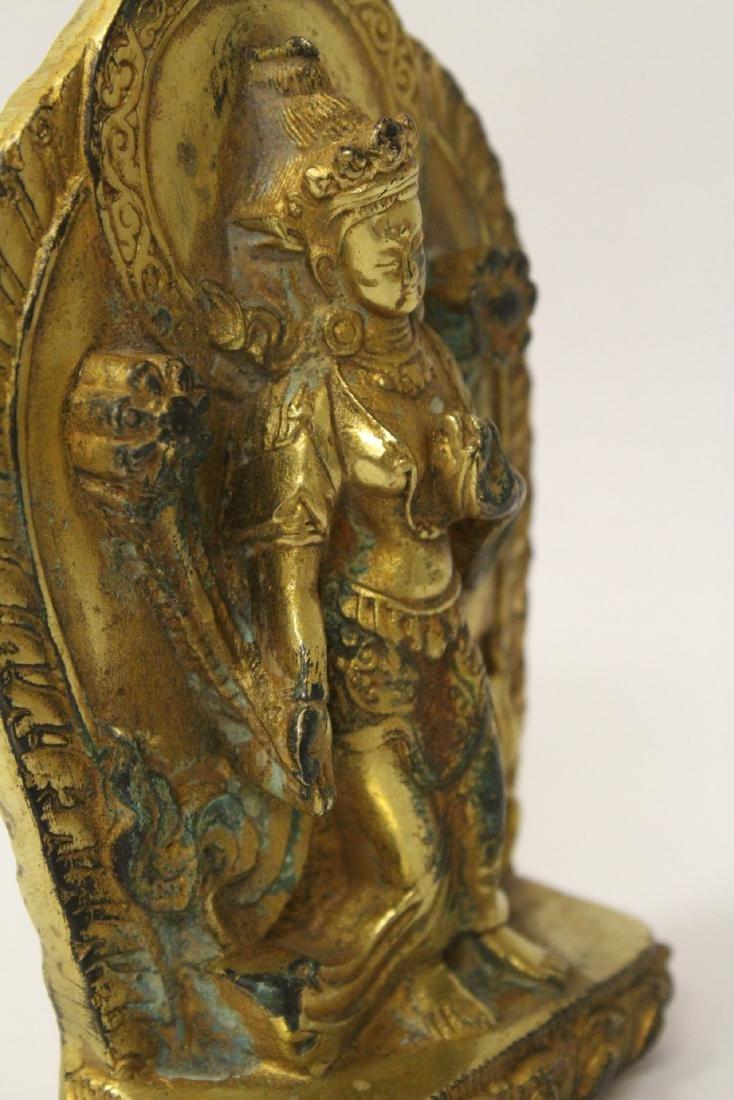 Chinese antique gilt bronze sculpture - 7