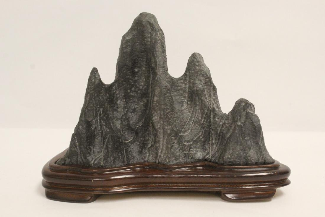 Chinese stone carved brush mountain