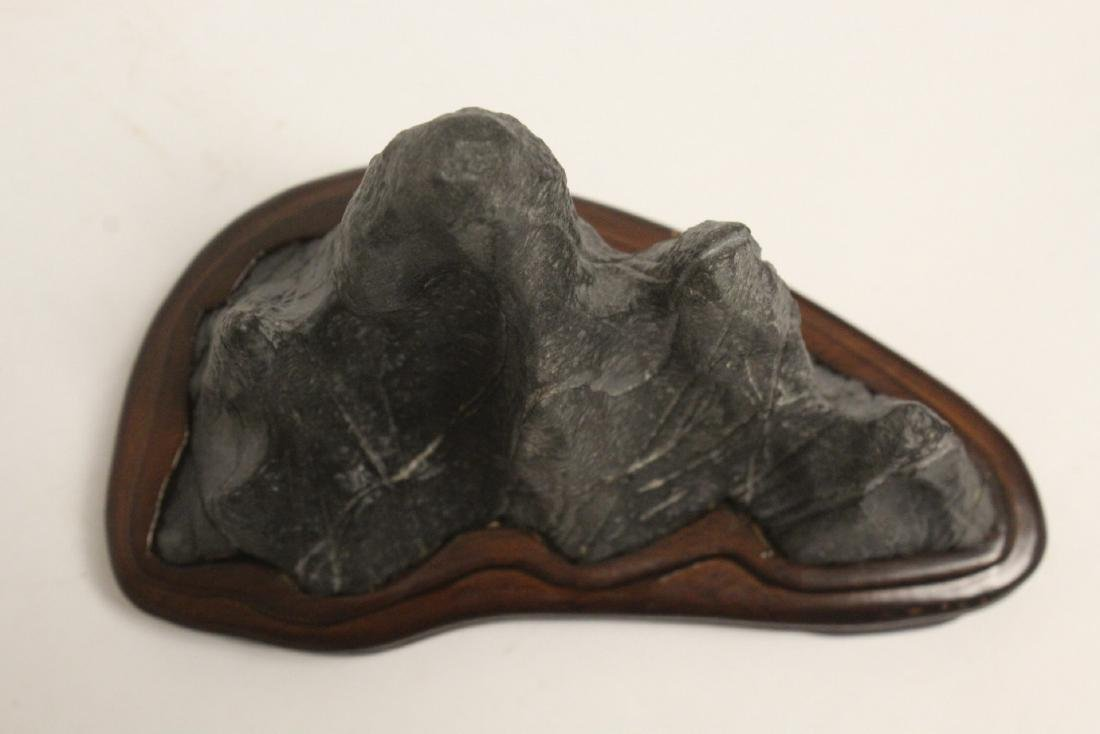 Chinese stone carved brush mountain - 5
