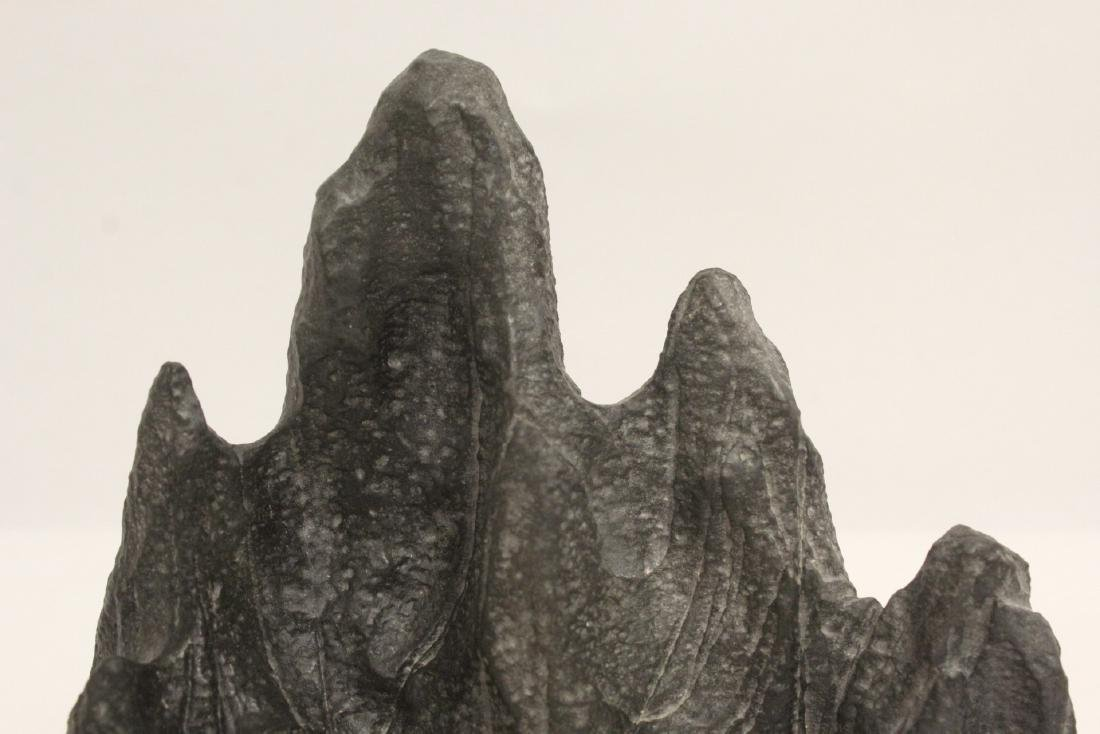Chinese stone carved brush mountain - 6