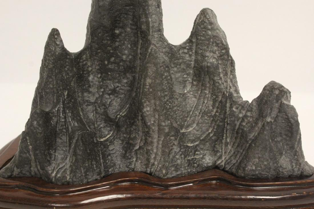 Chinese stone carved brush mountain - 7