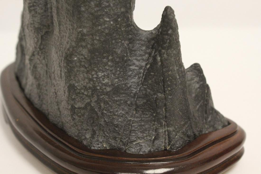 Chinese stone carved brush mountain - 8