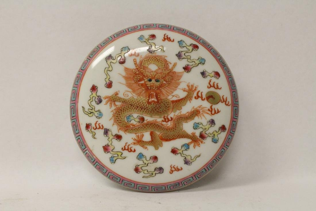 Chinese famille rose porcelain box - 4