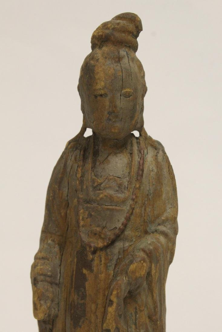 Chinese wood carved Guanyin - 6