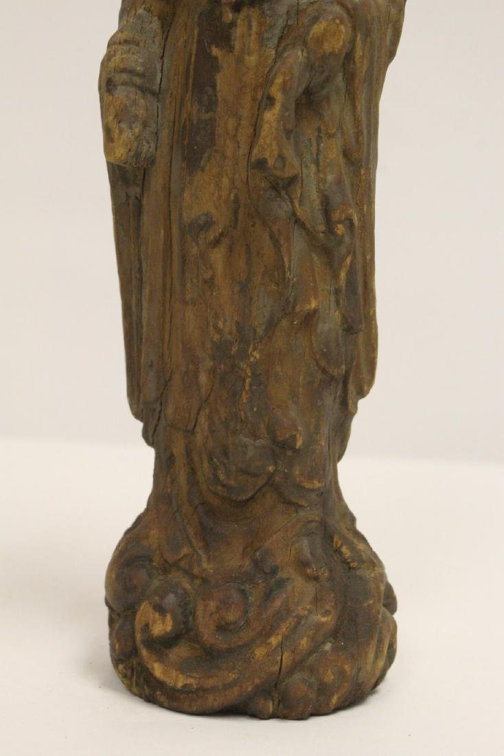 Chinese wood carved Guanyin - 7