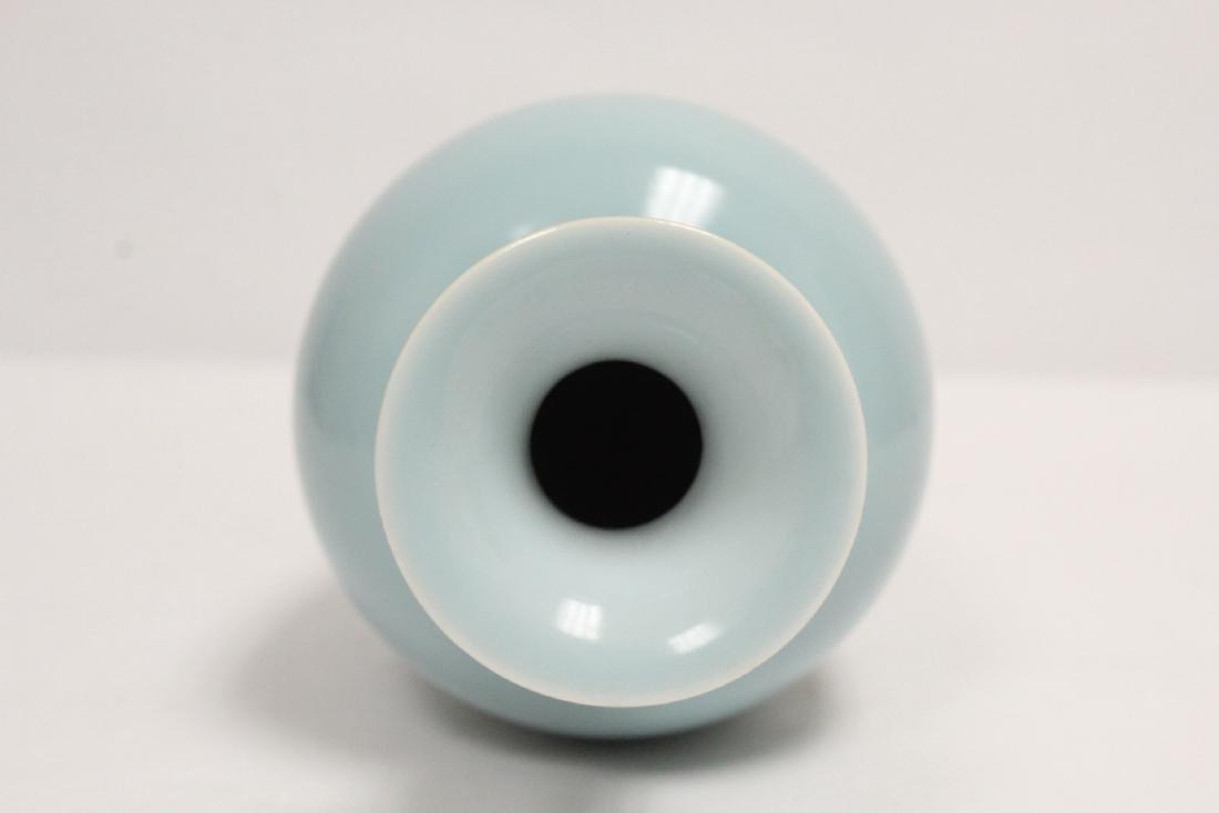 Chinese sky blue porcelain vase - 5