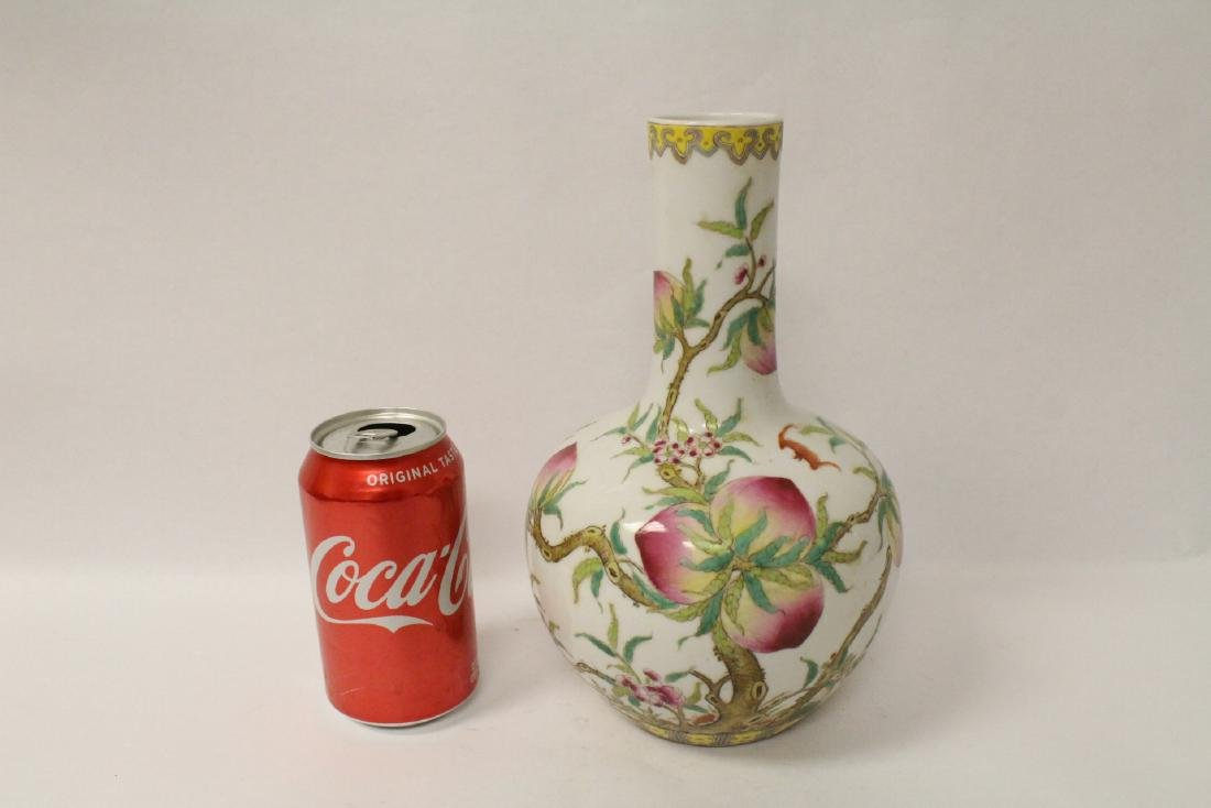 Famille rose porcelain bottle vase - 10