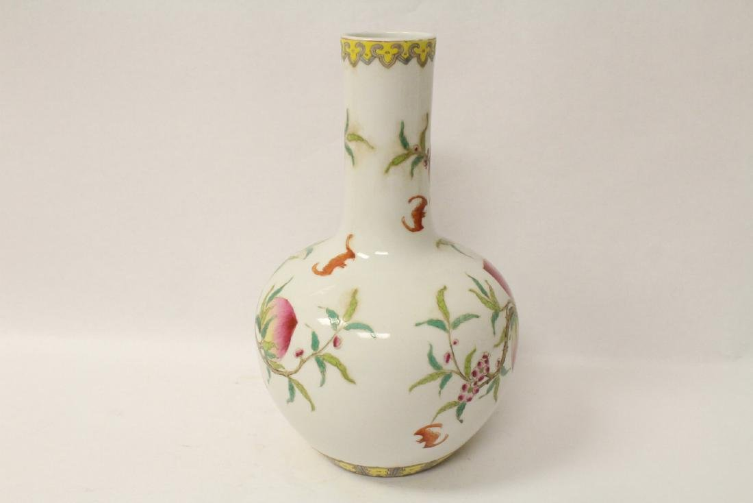 Famille rose porcelain bottle vase - 3