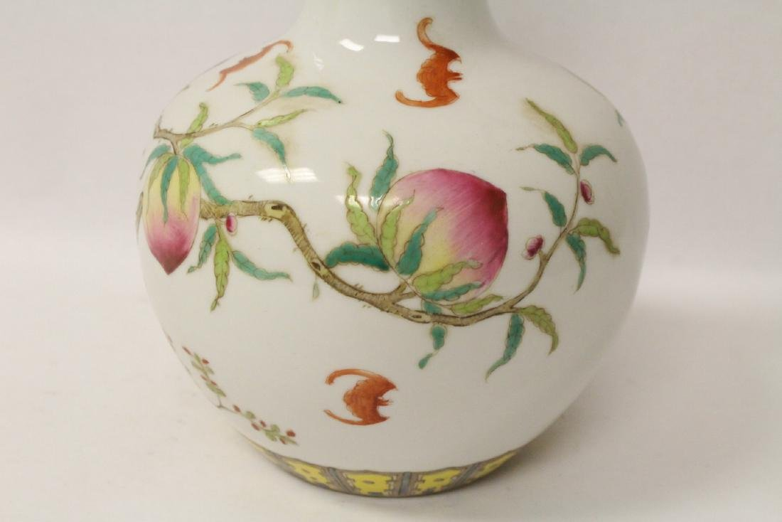 Famille rose porcelain bottle vase - 6