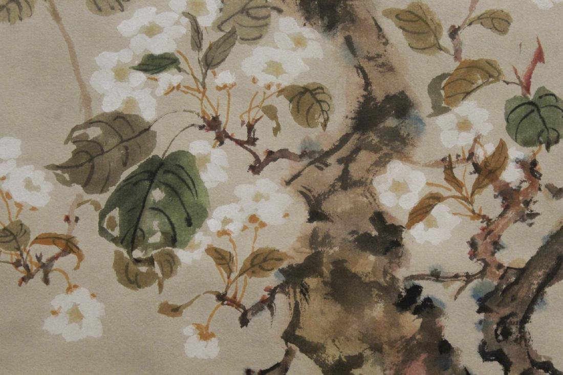 "Chinese watercolor scroll ""birds and flowers"" - 8"