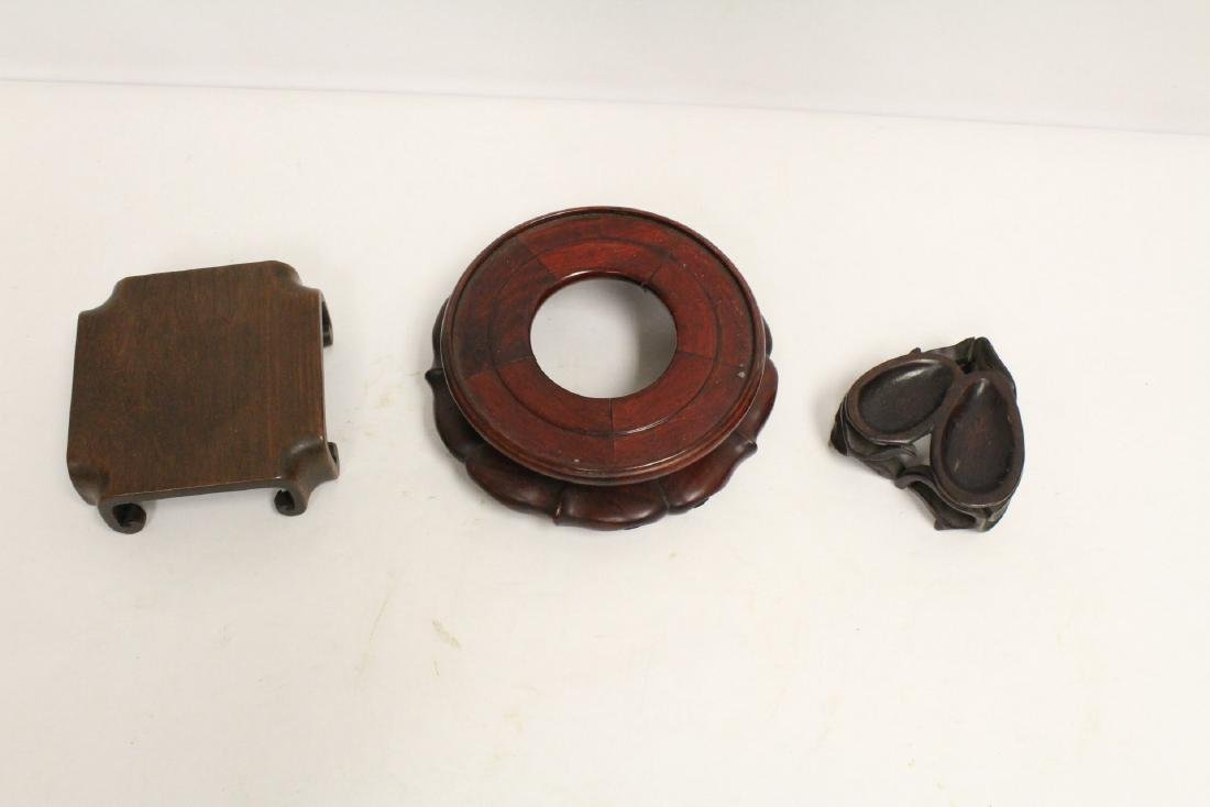 Lot of Chinese wood stands - 5