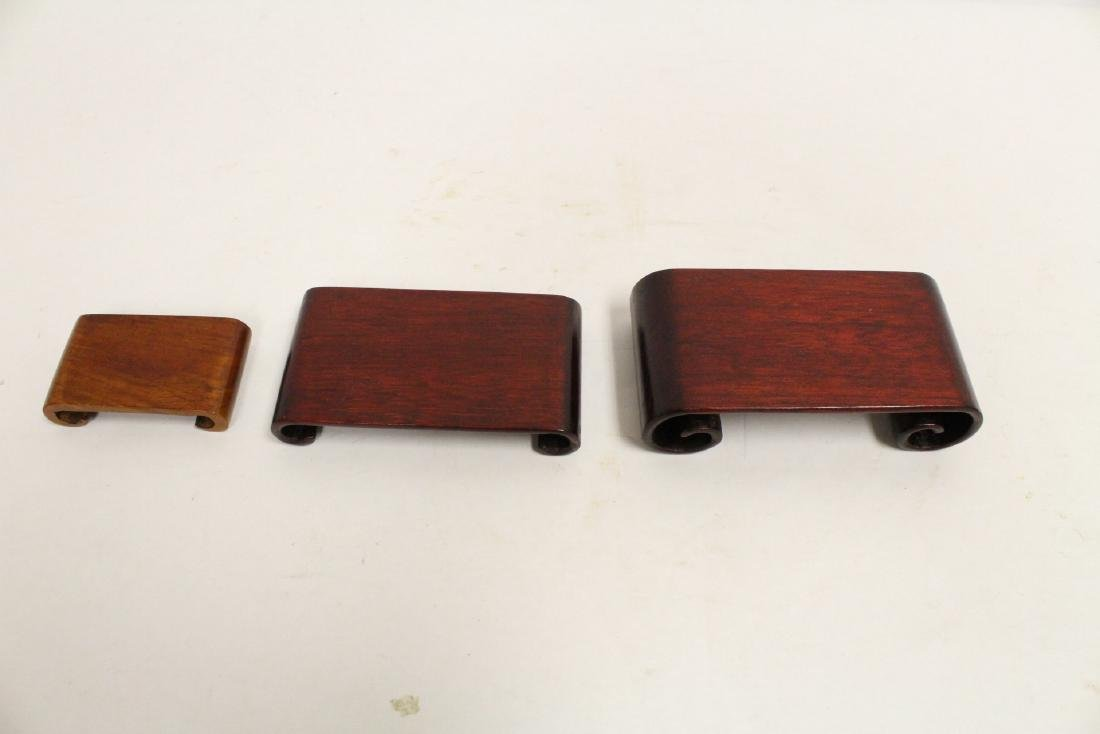 Lot of Chinese wood stands - 8