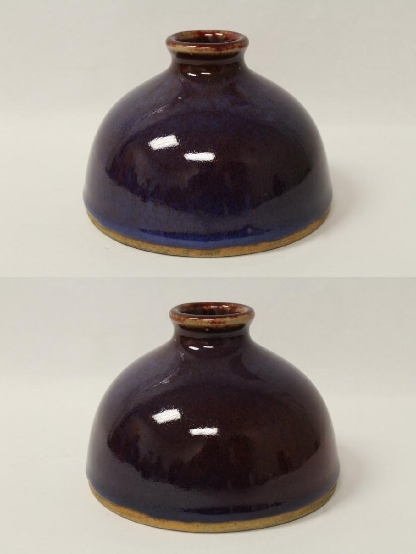 A red glazed porcelain water dripper - 2