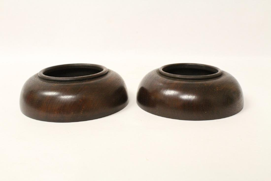 2 wood carved small bowls - 3