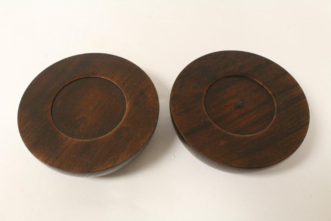 2 wood carved small bowls - 4