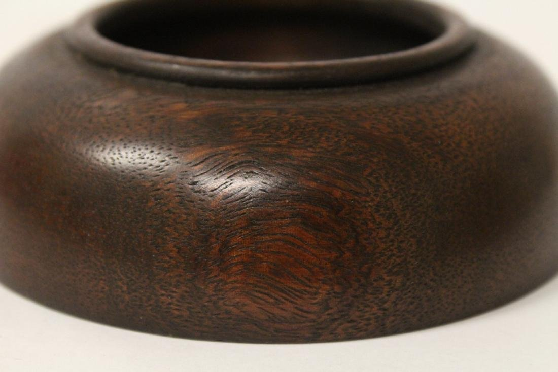 2 wood carved small bowls - 9