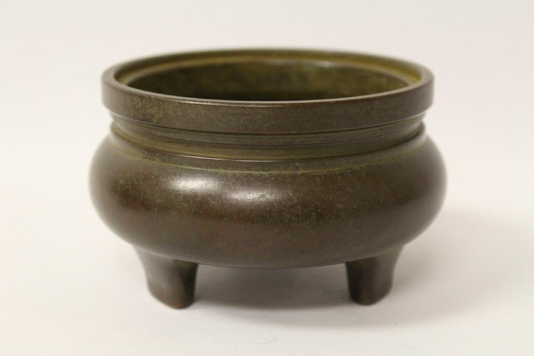 Bronze covered censer, top in dragon motif - 4