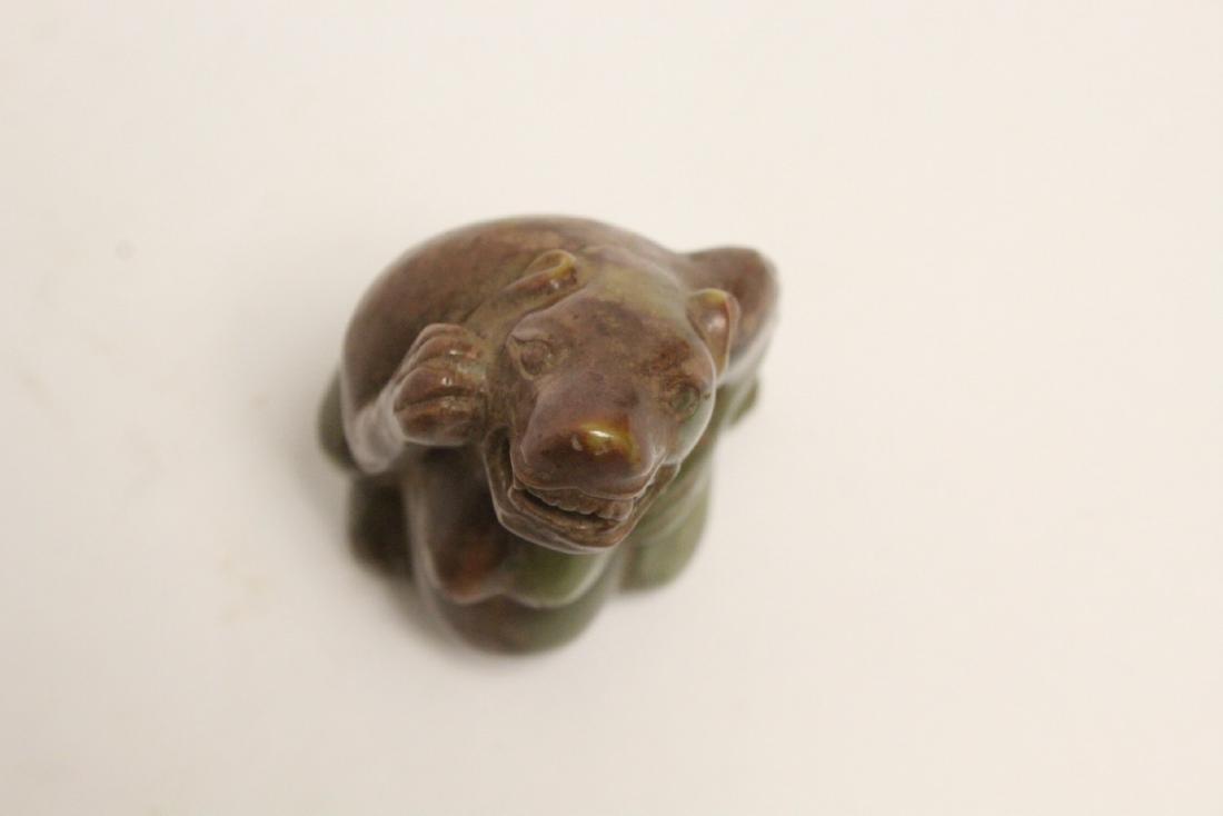 Jade carved bear - 6
