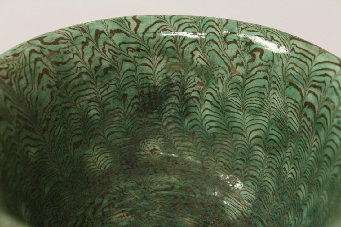 Chinese marbled pottery bowl - 6