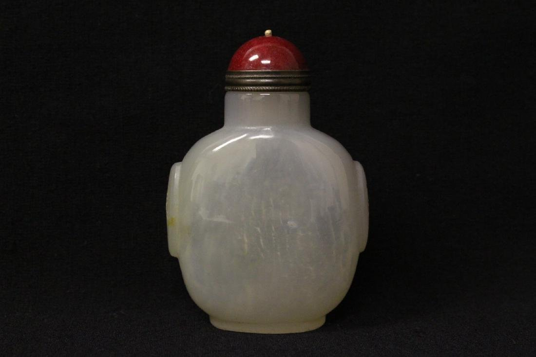 Agate like stone carved snuff bottle