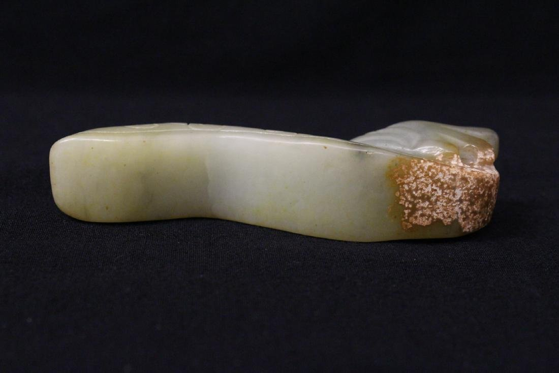 2 jade carved belt buckles - 10