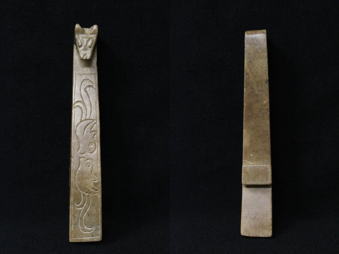 2 jade carved belt buckles - 3