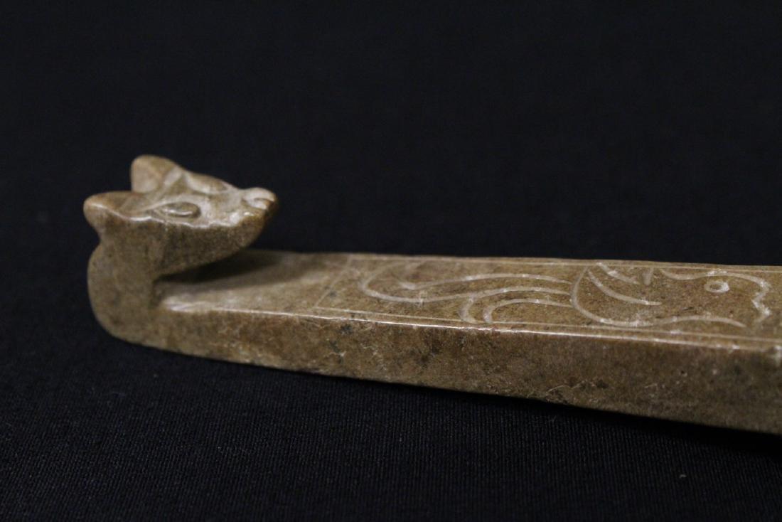 2 jade carved belt buckles - 5