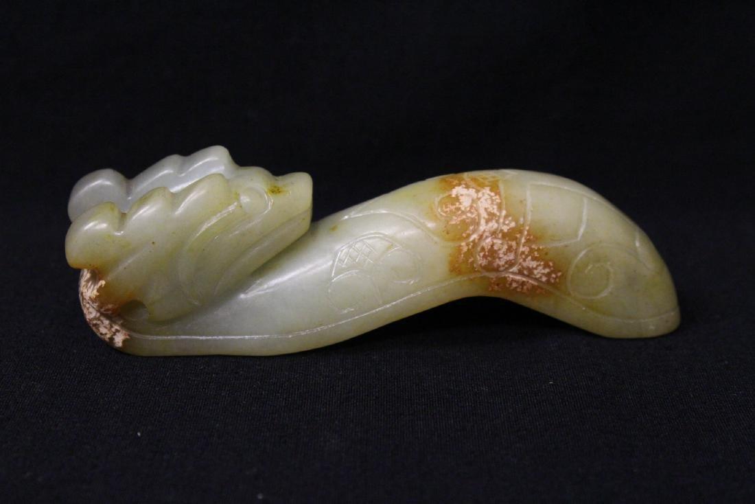 2 jade carved belt buckles - 6