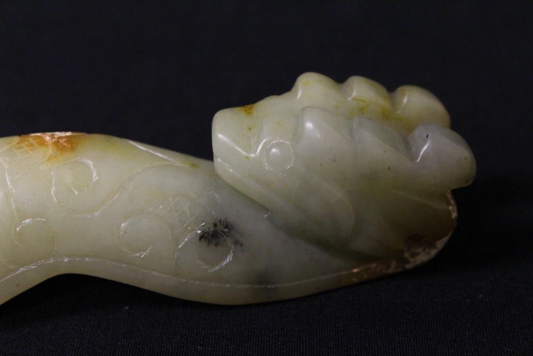 2 jade carved belt buckles - 9