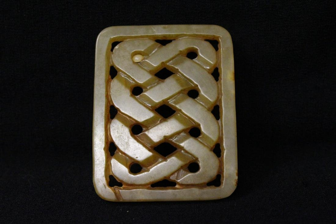 2 jade carved plaques - 7