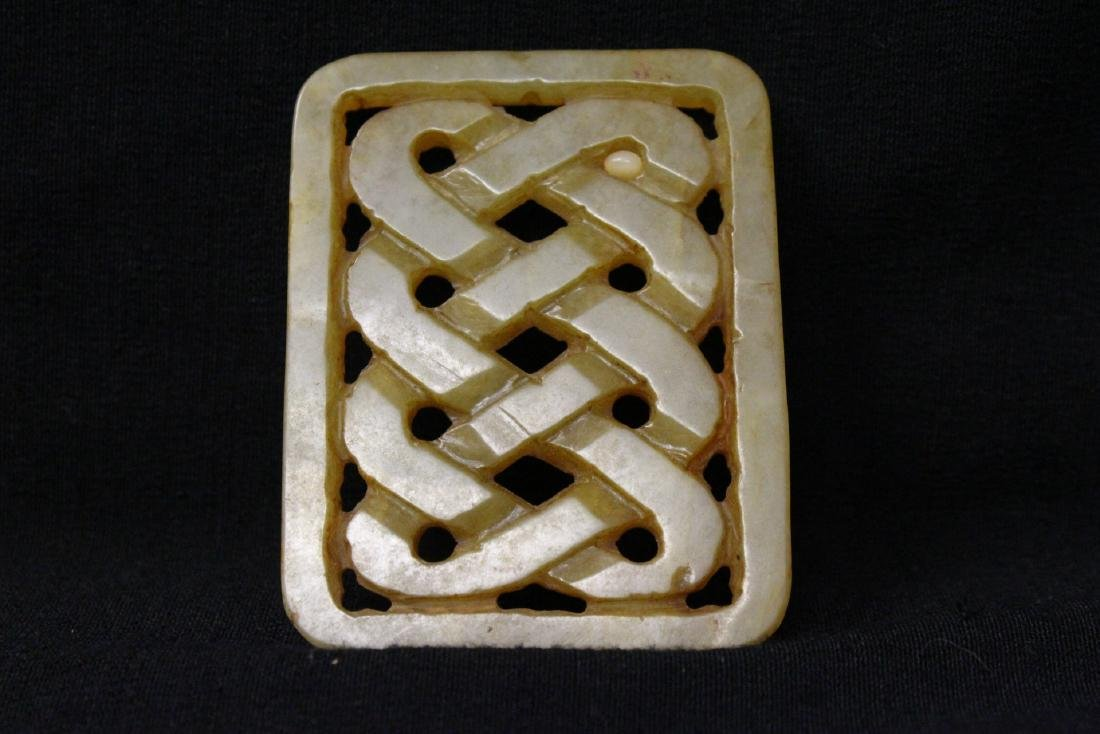 2 jade carved plaques - 9