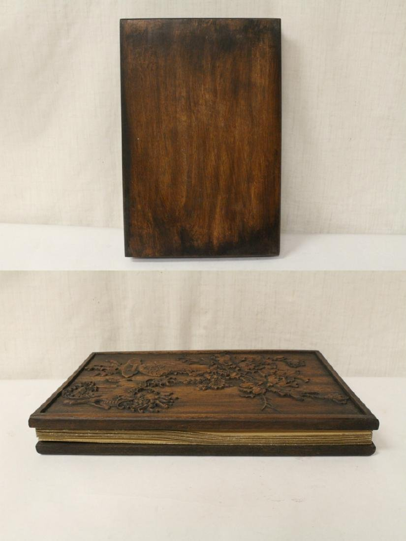 Calligraphy book with wood cover - 10