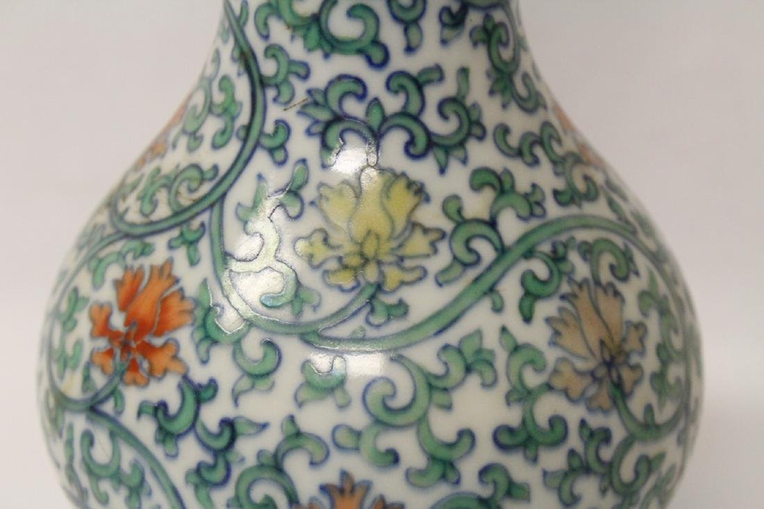 Chinese wucai porcelain vase - 9