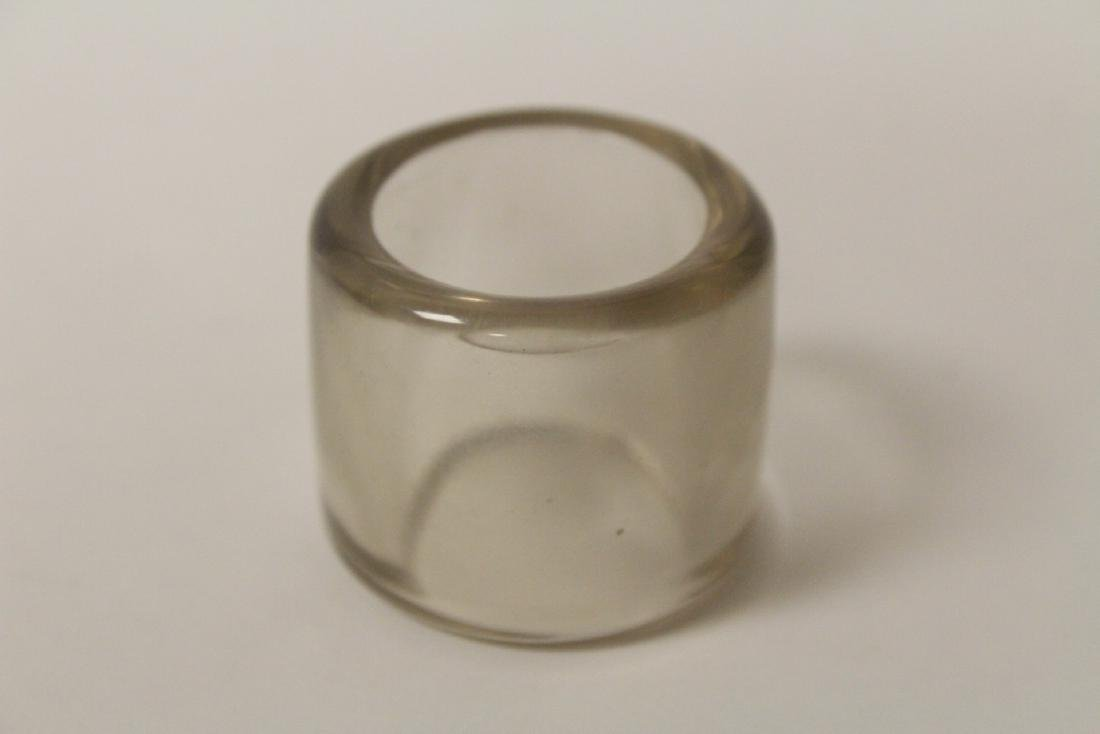 Peking glass archer's ring - 10