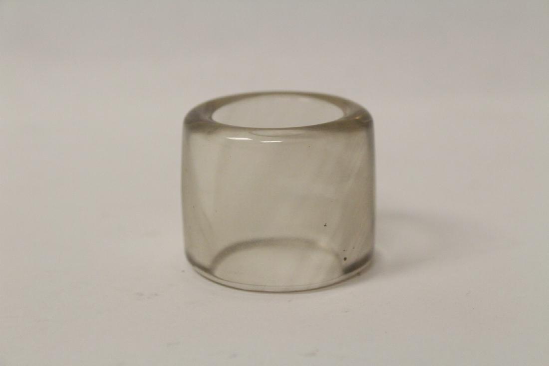 Peking glass archer's ring