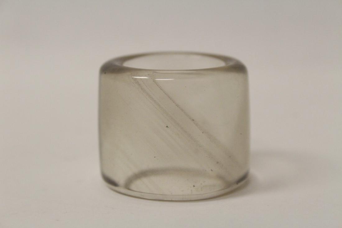 Peking glass archer's ring - 3