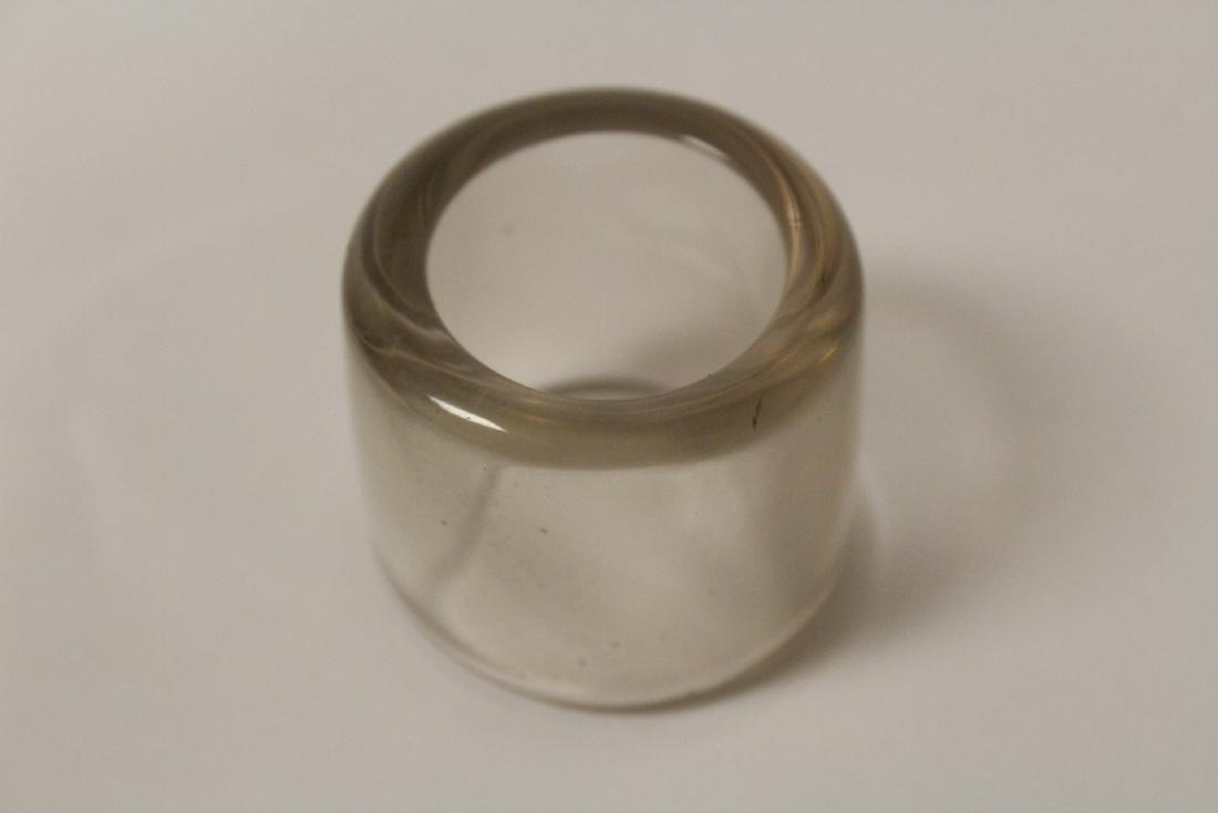 Peking glass archer's ring - 4