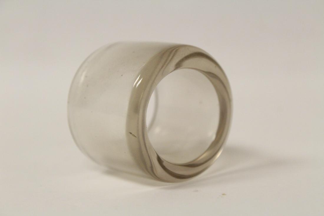 Peking glass archer's ring - 6